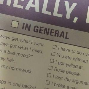 3/$20 checklist for cranky days